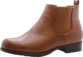Saute Styles Womens Flat Block Heels Chelsea School Ankle Boots Size 7