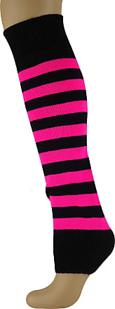 MySocks Leg Warmers Striped Pink Black