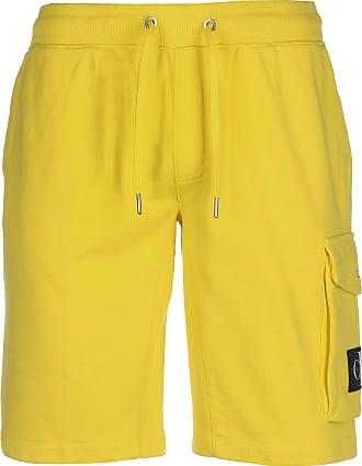 Calvin Klein Jeans Monogram Patch HWK Shorts Solar Yellow