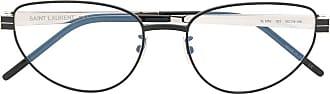 Saint Laurent Eyewear Óculos de sol oval SLM52 - Preto