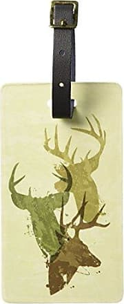 Graphics & More Graphics & More Deer Heads Design-Hunting Hunter Camouflage Luggage Tags Suitcase Id, White