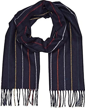 4c7c64f5c48a Striped Lambswool Scarf, Echarpe Homme, Bleu (Marine), Taille