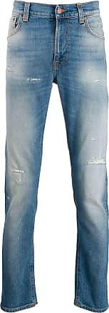 Nudie Jeans Calça jeans com efeito desbotado - Azul