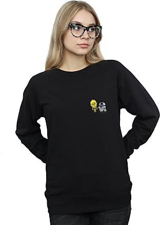Absolute Cult Star Wars Womens Resistance Droids Chest Print Sweatshirt Black Small