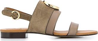 Chloé C plaque sandals - Grey
