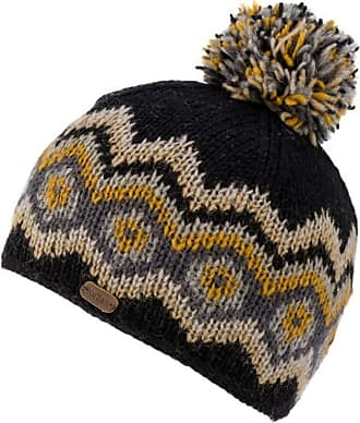 KuSan 100% Wool Multi-Colour Bobble Hat PK1822 (Black)