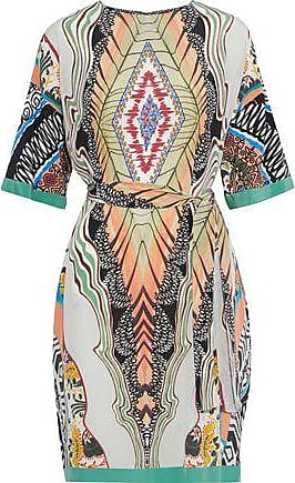 Etro Etro Woman Belted Printed Silk Crepe De Chine Dress Multicolor Size 46