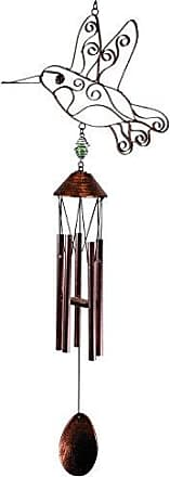 Great World Company StealStreet 303006 34 Metal Hummingbird Outline Wind Chime with Petite Tubes