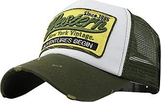 QUINTRA Embroidered Summer Cap Mesh Hats for Men Women Casual Hats Hip Hop Baseball Caps (Green)