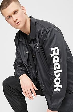 21 Men Reebok Button-Front Jacket at Forever 21 Black