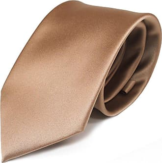TigerTie Designer Satin tie necktie gold all-one-color Polyester - Tie necktie