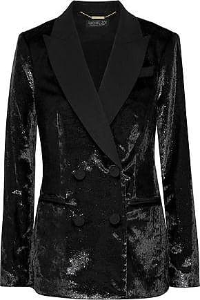 Rachel Zoe Rachel Zoe Woman Elaine Double-breasted Metallic Velvet Blazer Black Size 8