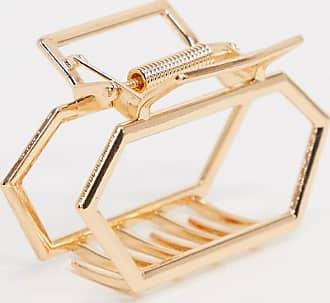 Asos hair clip in open hexagon shape in gold tone