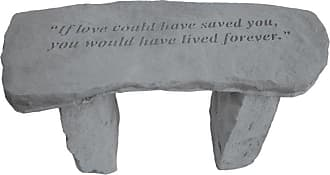 Kay Berry Outdoor Kay Berry If Love Could Have Saved You Memorial Garden Bench - 29 in. Cast Stone - 37320