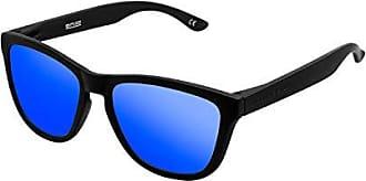 Hawkers Polarized Carbon Black /· Sky One Montures de lunettes Azul 50.0 Mixte Adulte Bleu