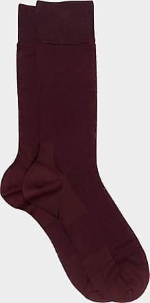 ZD Zero Defects Zero Defects burgundy mercerized cotton socks