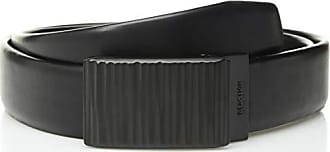 Kenneth Cole Reaction Mens 1.3 in. Wide Adjustable Compression Perfect Fit Slide Belt, Black Chrome, Small (30-32)