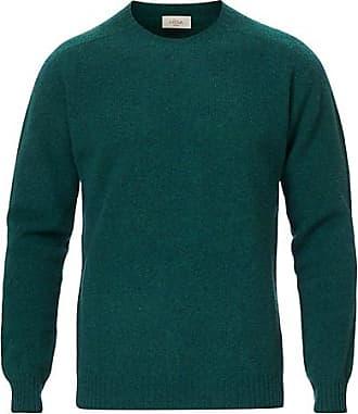 Altea Shetland Crew Neck Sweater Sage