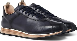Officine Creative Keino Polished-leather Sneakers - Navy