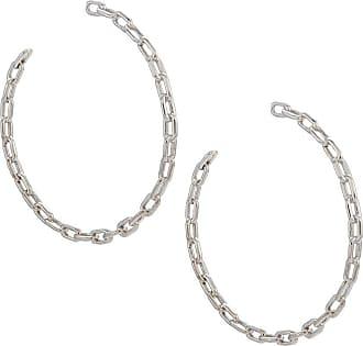 Jack Vartanian Par de brincos argola Chain G prata com ródio branco - Metálico