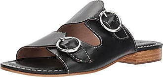 Bernardo Womens TOBI Flat Sandal, Black Glove Leather, 7M M US