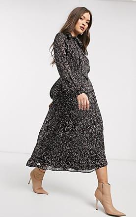 Warehouse midi confetti print dress-Black