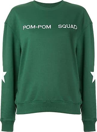 Zoe Karssen embroidered slogan sweatshirt - Green
