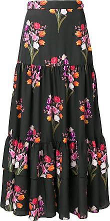 Borgo De Nor Emme floral print skirt - Preto