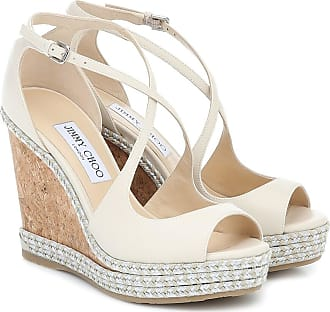 Jimmy Choo London Sandali Dakota 120 in pelle con zeppa