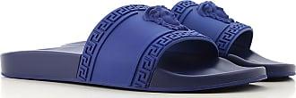 Versace Flip Flops for Men On Sale, Bluette, polyurethane, 2017, 10 7.5 8 9