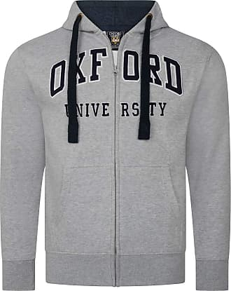 Oxford University Official Licensed Embroidered Hoodie Unisex Mens Womens Souvenir Gift Super Soft Full Zip Up + One Free T-Shirt (S, Grey)