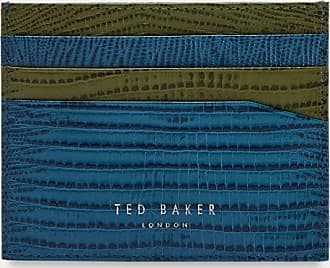 Ted Baker Exotic Print Cardholder in Blue LIZMAG, Mens Accessories