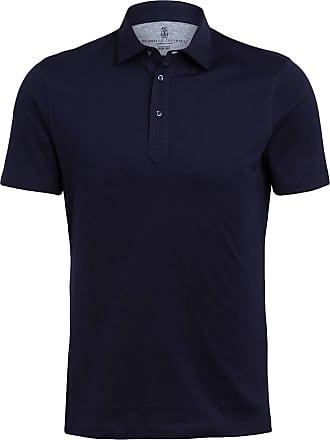 Brunello Cucinelli Jersey-Poloshirt Slim Fit - DUNKELBLAU