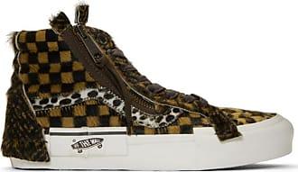 ed4a98f5029be2 Vans Brown Vault Pony Hair Sk8-Hi Cap LX Sneakers