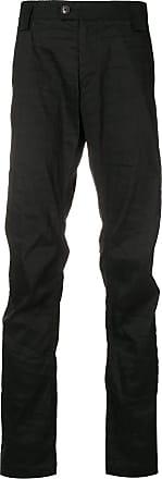Ziggy Chen creased trousers - Black