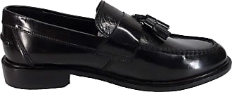 Ikon Weaver Black and Oxblood Retro,Ska,Northern Soul Tassle Loafers (6/40, black)