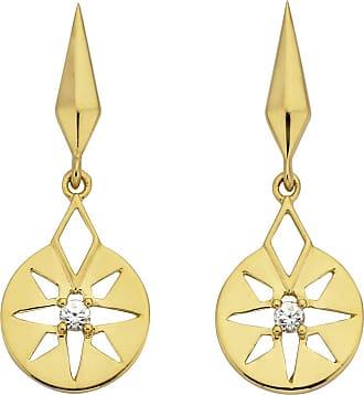 Zoe & Morgan Goldfinsternis-Ohrringe - ONE SIZE - White/Gold
