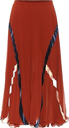 See By Chloé High-rise georgette midi skirt
