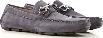 Salvatore Ferragamo Loafers for Men On Sale, Asphalt, Suede leather, 2017, 7.5 9