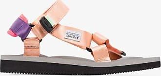Suicoke Womens Pink Depa Multi Strap Flat Sandals