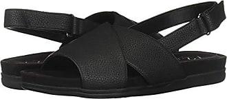 Aerosoles A2 Womens Hour Long Flat Sandal, Black, 8 M US