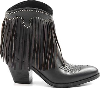 Zoe Florida Black Leather Fringe Boots - Florida 02 - Size Black Size: 5 UK