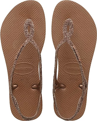 Havaianas Womens HAV Luna Premium Rust Sandal, Multicolor (Navy/Sand), 6 Child UK