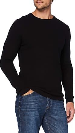 Tom Tailor Denim TOM TAILOR Denim Mens Strukturiertes Mèlange Sweatshirt, Black (Black 29999), M