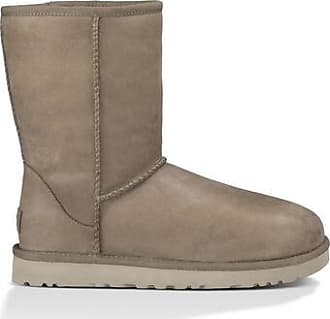 UGG Womens Classic Short Leather Boot in Feather, Size 3