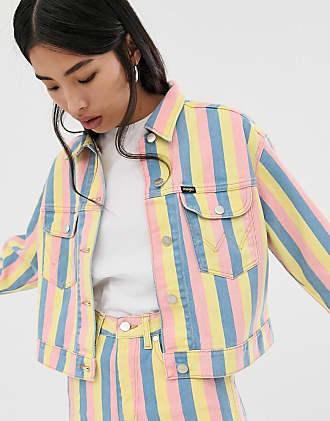Wrangler Giacca di jeans a righe pastello-Multicolore