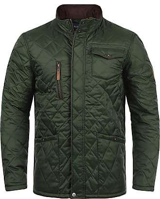 Blend Camilo Mens Quilted Jacket Puffer Jacket Padded Jacket with Funnel Neck, Size:M, Colour:Duffel Bag Green (77019)
