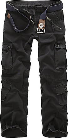 QIYUN.Z New Combat Mens Cotton Military Camouflage Cargo Pants Army Camo Trousers