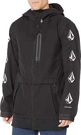 Volcom Mens D.s. Long 2 Layer Snow Jacket, black, Medium