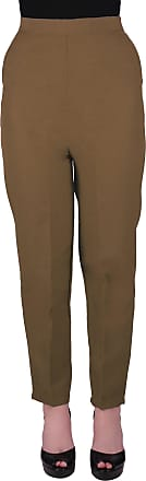 Eyecatch Louisa Ladies Elasticated Waist Trousers Womens Pull On Easy Comfort Fit Regular Length Taupe Size 20